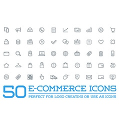 Set of e-commerce icons shopping and online can be vector