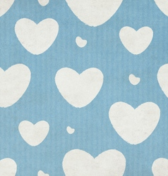 Vintage pattern with hearts vector