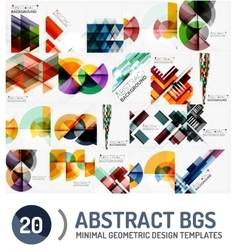 Set of geometric backgrounds vector