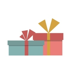 Gft box with ribbon icon vector