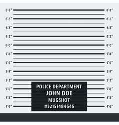 Police mugshot background vector