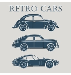 Car retro 50s 60s 70s poster vector