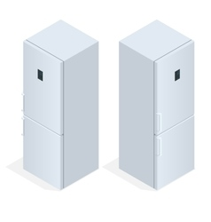 Fridge door with handle flat 3d isometric vector