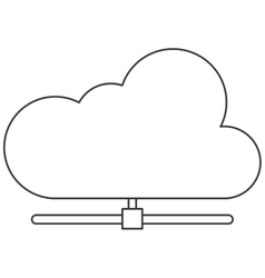 Cloud attached to pipe icon vector
