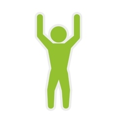 Pictogram jumping icon healthy lifestyle design vector