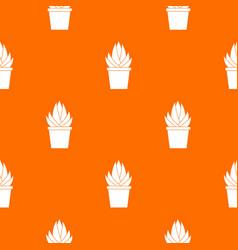 Aloe vera plant pattern seamless vector