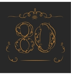 Anniversary 80th signs vector image