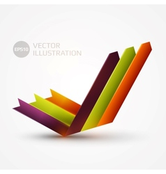 Arrows graph vector image vector image