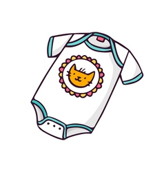 Baby bodysuit bright children isolated on w vector