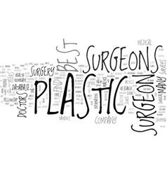 Best plastic surgeons text word cloud concept vector