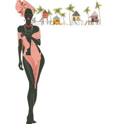 Black woman vector