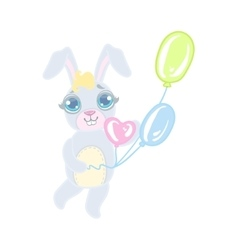 Bunny With Balloons vector image vector image