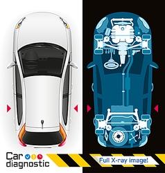 Car diagnostic full x ray vector