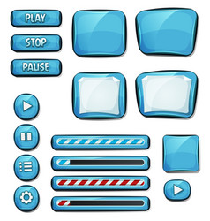 Cartoon diamonds elements for ui game vector