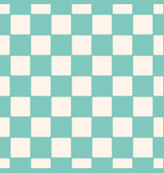 Checkered geometric seamless pattern vintage vector