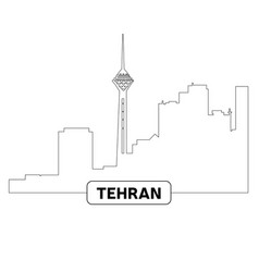 cityscape of tehran vector image vector image