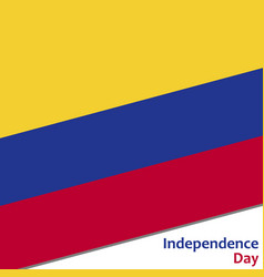 Colombia independence day vector