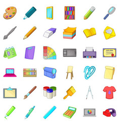 design icons set cartoon style vector image vector image
