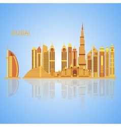 Dubai city vector