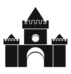 Fairytale castle icon simple style vector