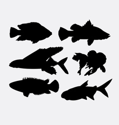 Fish animal silhouette 2 vector