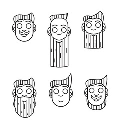 hipster character icon vector image vector image