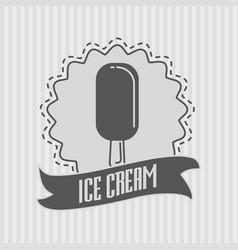 ice cream logo or badge concept vector image