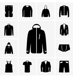 Man clothing part 2 vector image