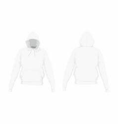 Mens white hoodie vector