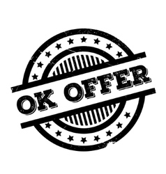 Ok Offer rubber stamp vector image vector image