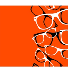 pattern retro hipster sunglasses abstract vector image vector image