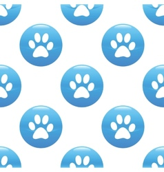 Paw sign pattern vector