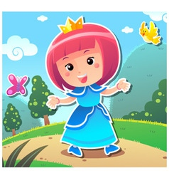 Princess Lily vector image vector image