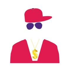 Rap singer in pink vector