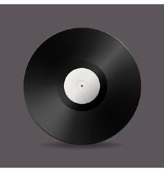 Realistic music gramophone vinyl lp record vector