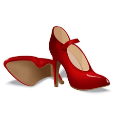 Red shoes for women vector image vector image