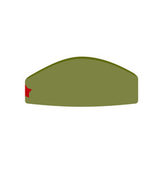 retro military forage-cap russian soldiers vector image vector image