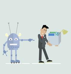 robot vs man clipart vector image vector image