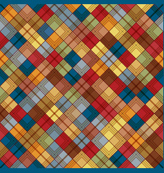 seamless tartan pattern checkered colorful brown vector image