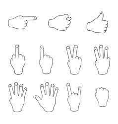 Set of gestures vector image vector image