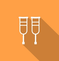Simple Pair Crutches vector image vector image