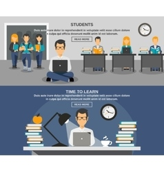 Student Banner Set vector image vector image