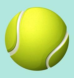 Tennis ball on green vector image vector image