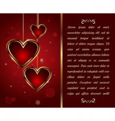 Valentine's Day background vector image