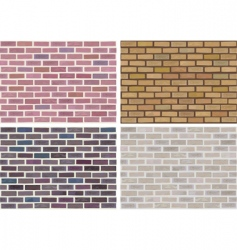 Vector seamless brick wall vector