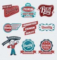 Vintage retro label set vector