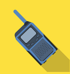 Walkie-talkiepaintball single icon in flat style vector