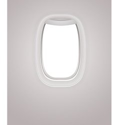 Window of airplane vector