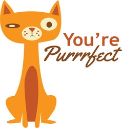 Youre purrfect vector