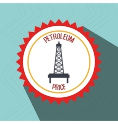 Petroleum oil barrel tower vector